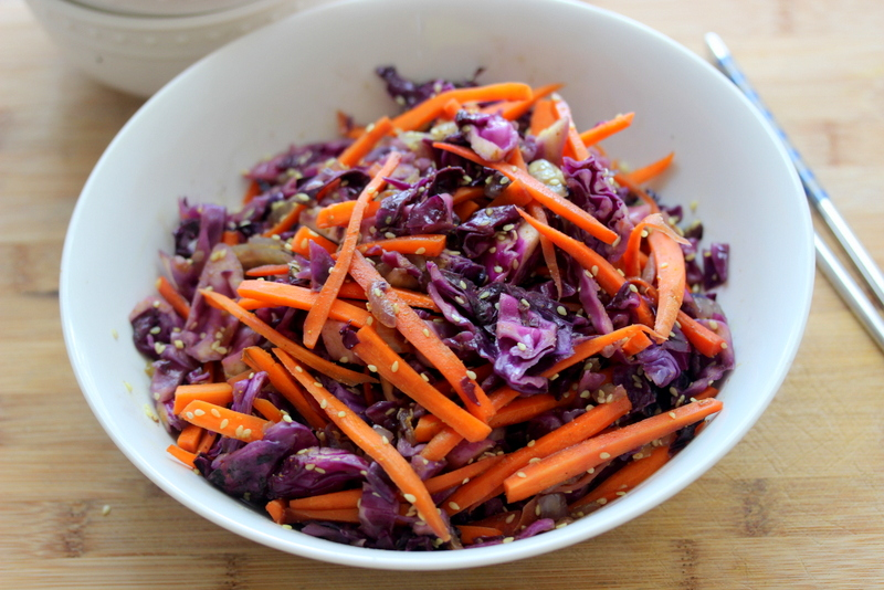 Sesame Carrot and Red Cabbage Stir Fry - Savvy Naturalista