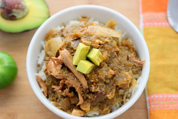 Crock Pot Green Chili Chicken Stew (Tomatillo Stew) - Savy Naturalista
