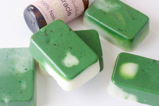 Green Tea Swirl Soap Bars