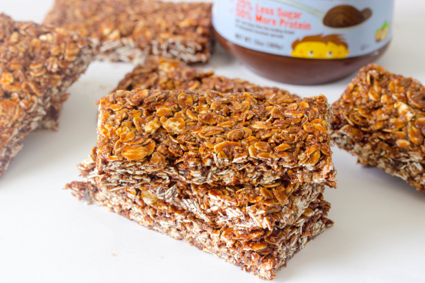 Honey and Hazelnut Butter Granola Bars (Giveaway)