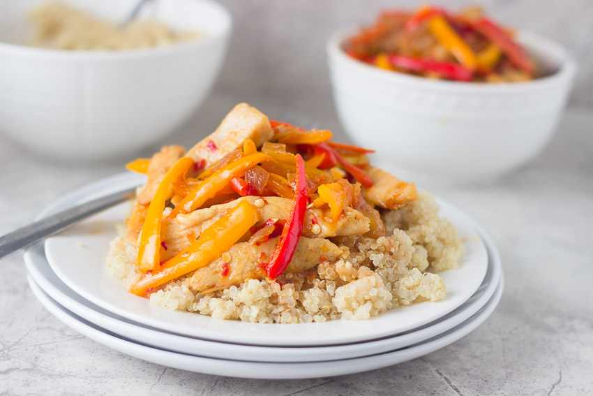 Lean Chicken and Sweet Pepper Stir Fry