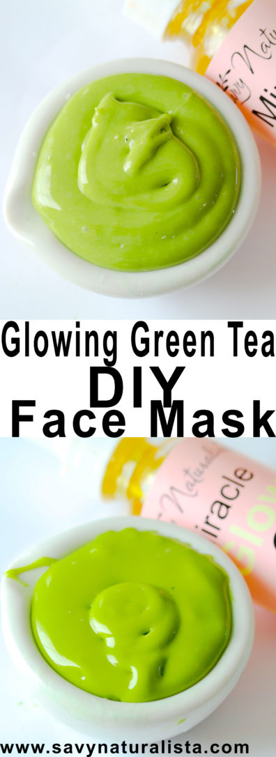 Make your skin glow with this three ingredient DIY green tea all natural facial mask!