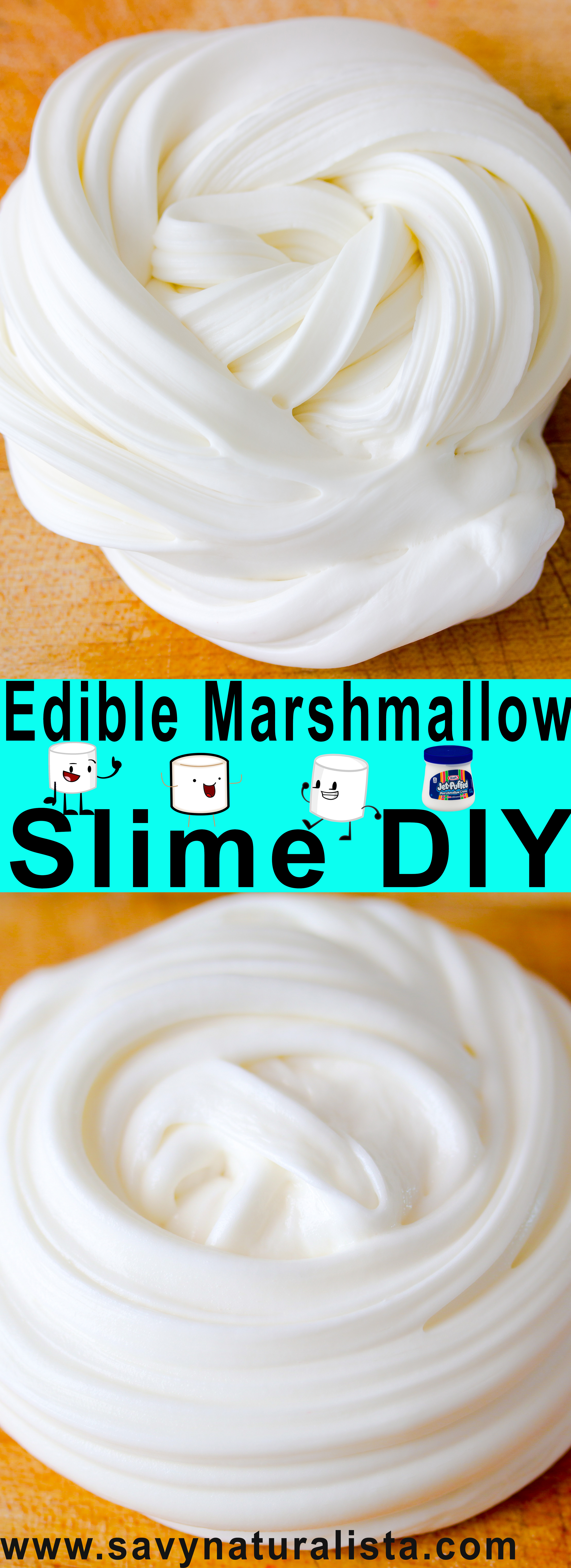 How to make edible marshmallow slime without cornstarch