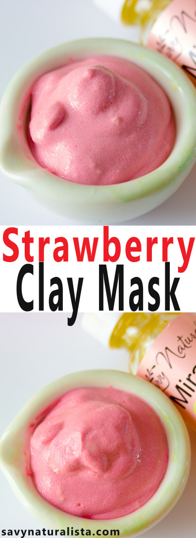 Make this easy all natural strawberry clay mask DIY is high in vitamin C and full of rich antioxidants with only a few major ingredients.